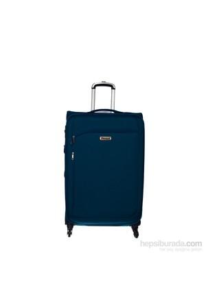 Pierre Cardin Çekçekli Dört Tekerlekli Unisex Valiz L Nk005-(L)