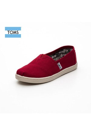 Toms 012001C13 Red Canvas Red Ayakkabı