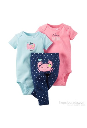 Carter's Layette Kız Bebek 3'Lü Set-Tma 126G215
