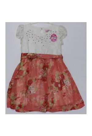 Asilgüç 5257-2 Dantelli Şifon Elbise 4 Y Narçiçeği