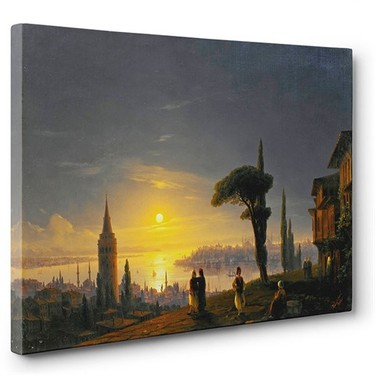 Tabloshop - İvan Ayvazovski - Galata Kulesi Tablosu Fiyatı