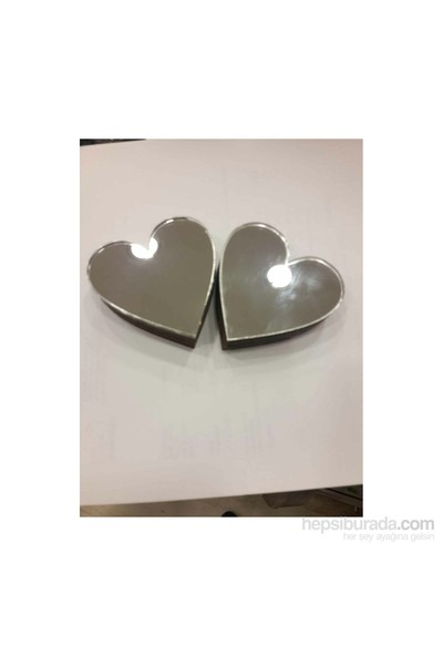 Toptansüs Akrilik Pleksi Ayna Çift - Kalp Yüzük Yükselticisi