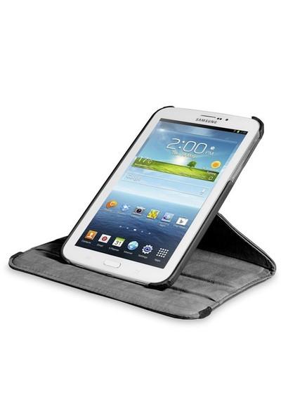 Romeca Samsung Galaxy Tab3 7' T210 360° Dönebilen Siyah Kılıf