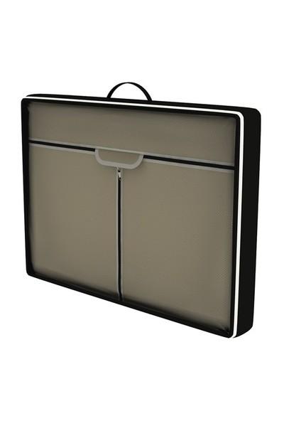 Prado Çantalı Çelik Profilli Bez Dolap - Bej