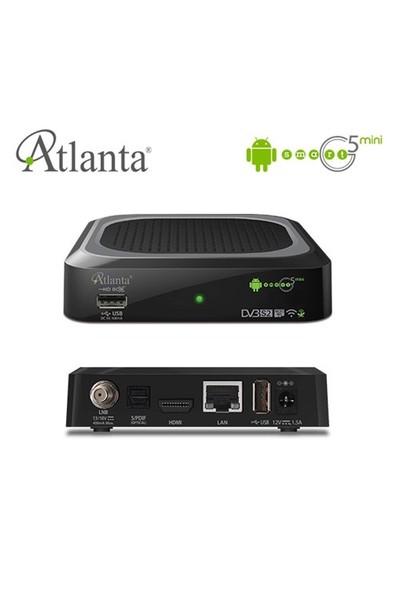 Atlanta Smart G5 Mini Android Uydu Alıcı + Akıllı Klavyeli Mouse Kumanda
