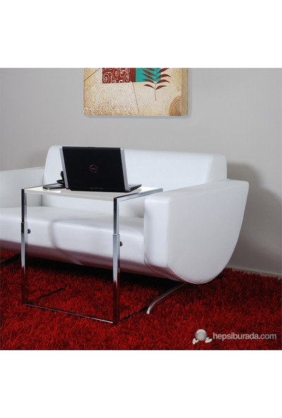 Bianca Dekoratif Laptop Sehpası Highgloss Beyaz