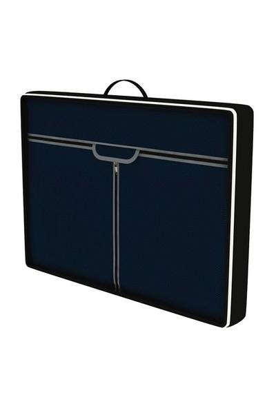 Prado Çantalı Çelik Profilli Bez Dolap - Lacivert