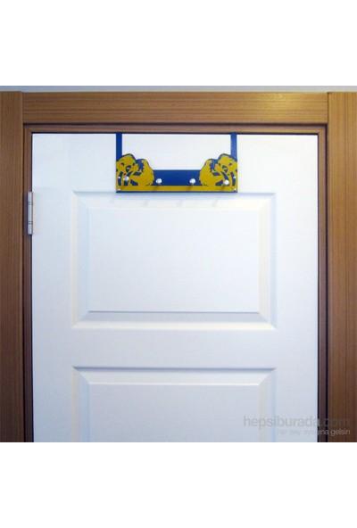 Taraftar Askısı (Sarı-Lacivert) Kapı Askılığı 2