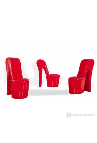 Ayakkabı Koltuk - Kırmızı Rugan