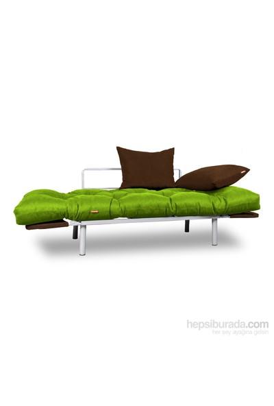 Kombin Kanepe - Metal - Yeşil -Kahverengi