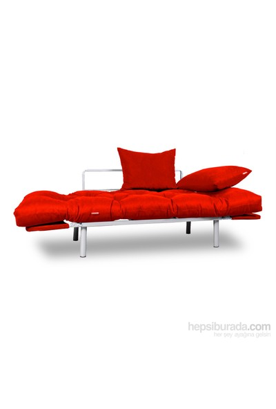 Kombin Kanepe - Metal - Kırmızı -Kırmızı