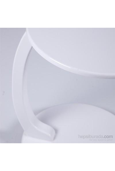 Evmanya Haus Beyaz Laptop Sehpası Ve Yan Sehpa