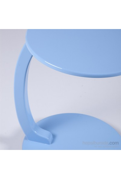 Evmanya Haus Mavi Laptop Sehpası Ve Yan Sehpa