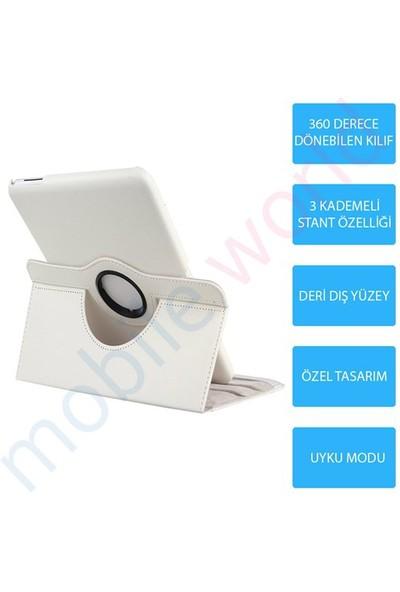Mobile World Samsung Galaxy Note N8000 360 Derece Dönebilen Beyaz Tablet Kılıfı