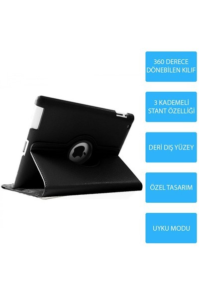 Mobile World iPad 2 Siyah Kılıflı 3 Parça Aksesuar Seti
