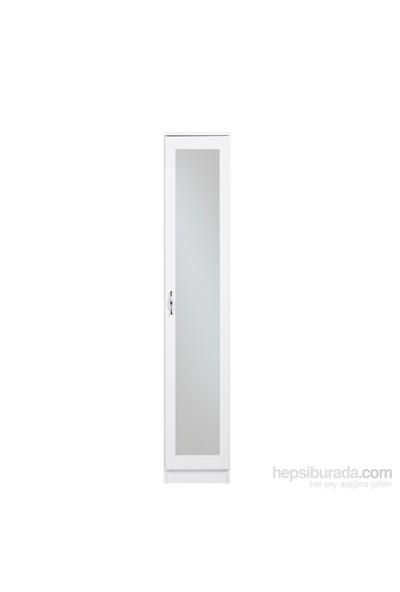 Hepsiburada Home Cellin Aynalı Kapaklı Gardırop - Beyaz