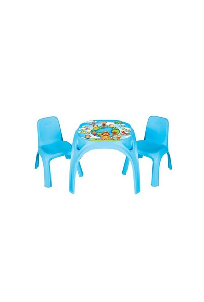 Pilsan İki Sandalyeli King Masa-Mavi