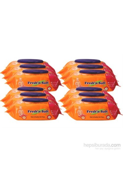 Freshnsoft Classic Islak Bebek Havlusu - 12 Li Paket