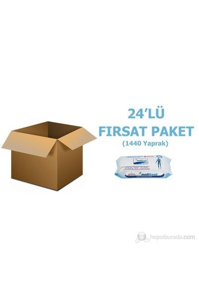 Medifresh Hasta Vücut Temizleme Bezi 24'lü Fırsat Paket (1440 Yaprak)