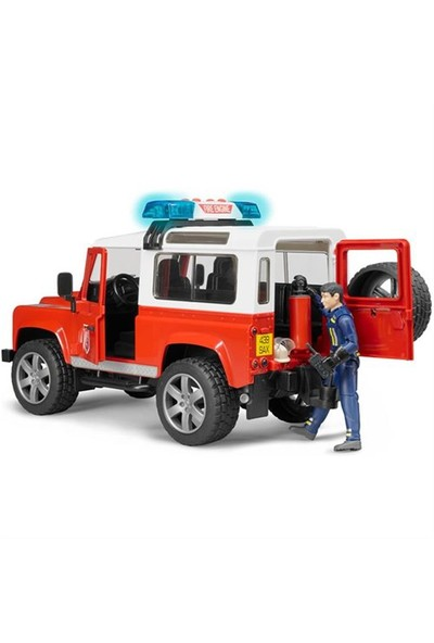 Bruder Land Rover İtfaiye Aracı Ve İtfaiye Memuru BR02596