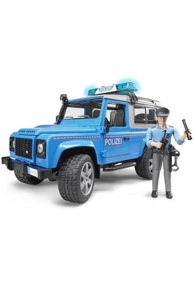 Bruder Land Rover Polis Aracı Ve Memur BR02597