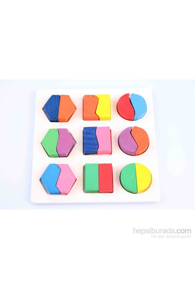 Wooden Toys Ahşap Geometrik Şekil Blokları