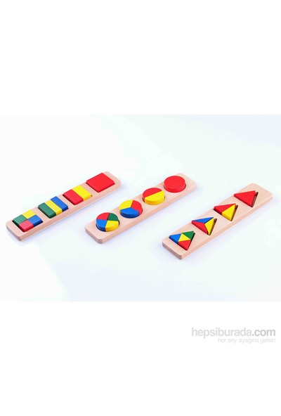 Learning Toys 3'lü Ahşap Blok Seti