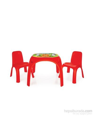 Pilsan İki Sandalyeli King Masa-Kırmızı