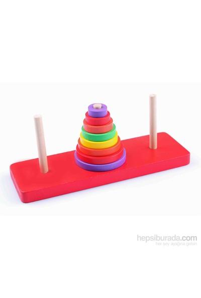 Learning Toys Sök-Tak Ahşap Hanoi Kuleleri