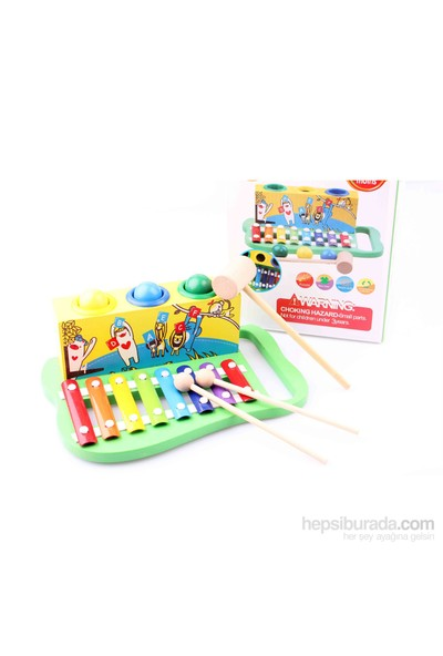 Wooden Toys Wooden Knock The Ball Piano
