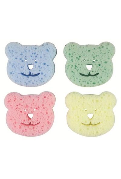 Bebedor Renkli Bebek Banyo Süngeri (4'lü Paket)
