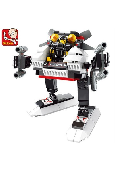 Sluban Kutulu Blok Dönüşen Robot 135 Parça