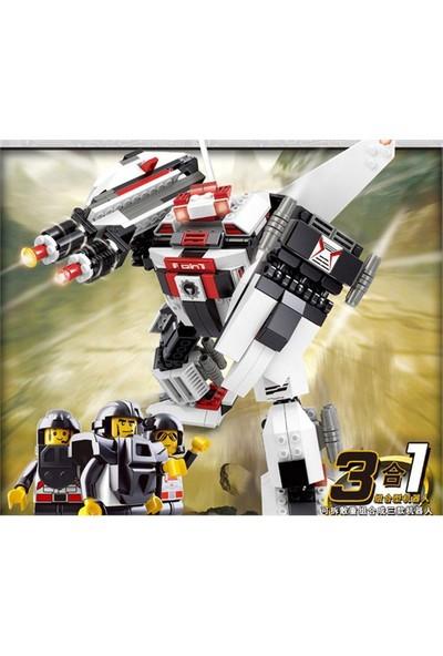 Sluban Kutulu Blok 3 İn 1 Dönüşen Robot 135 Parça