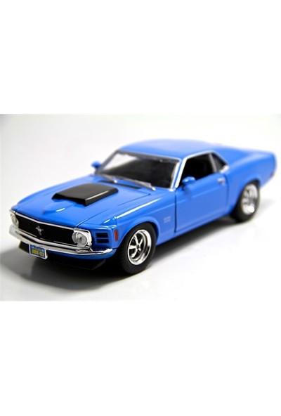 Vardem 1970 Ford Mustang Boss 429 1:24 Model Araba Mavi