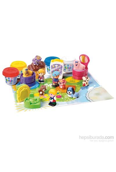 Playgo Oyun Hamuru Set Pet Shop Dükkanı 4 Hamurlu