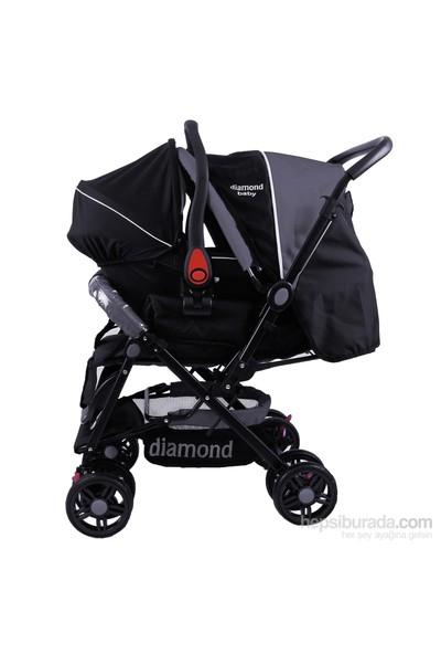 Diamond Baby P 101 Çift Yönlü Travel Sistem Pusetli Bebek Arabası - Siyah