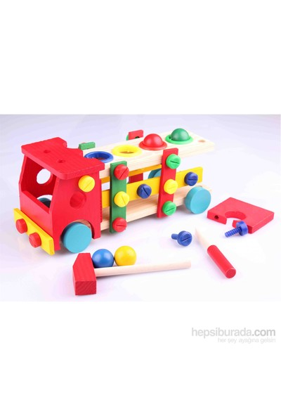 Wooden Toys Wooden Knock Down Toy Car