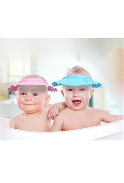 Hepsi Dahice Göz Ve Kulağa Su Kaçırmayan Silikon Banyo Şapkası Pembe Renk