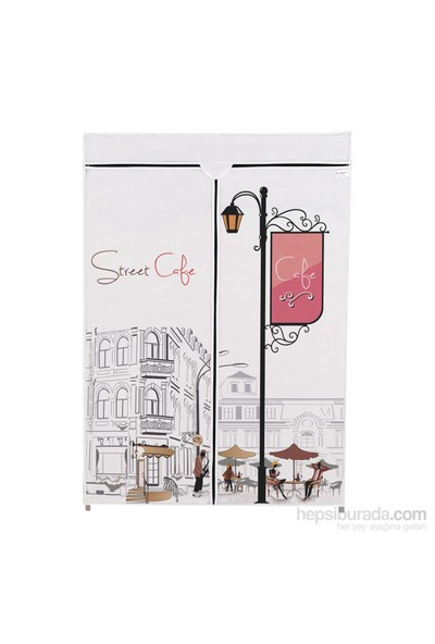 Prado Basic Çelik Profilli Bez Dolap - Cafe