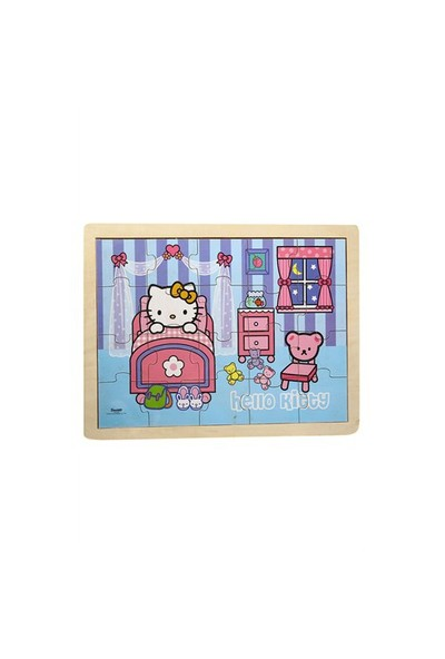 Hello Kitty Ahşap Puzzle 20 Parça