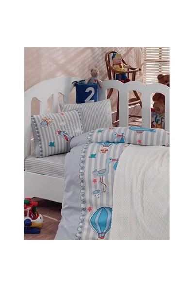 Cottonbox Lux Battaniyeli Nevresim Takımı Mavi