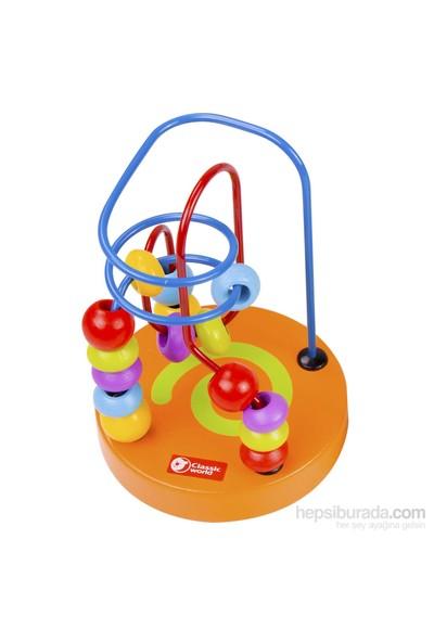 Classic World Ahşap El Becerisi Mama Sandalyesi Oyuncağım Turuncu