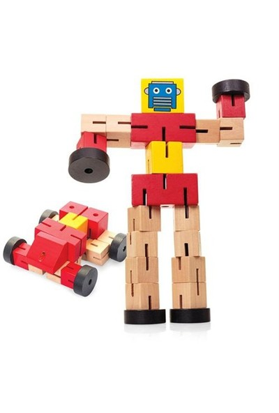 Distortion Robot Ahşap Zeka Geliştirici Puzzle Transformer Robot