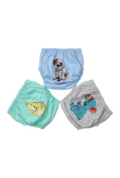 Modakids Erkek Bebek Sevimli 3'Lü Alıştırma Külodu 035-60155-014