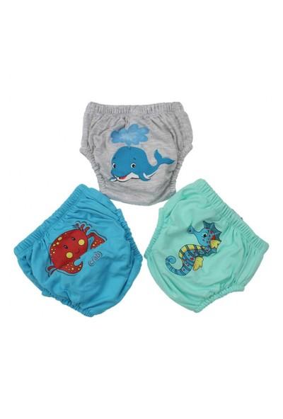 Modakids Erkek Bebek Sevimli 3'Lü Alıştırma Külodu 035-60155-019