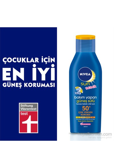Nivea Baby Sun Lotion 50+ Faktör 200 Ml