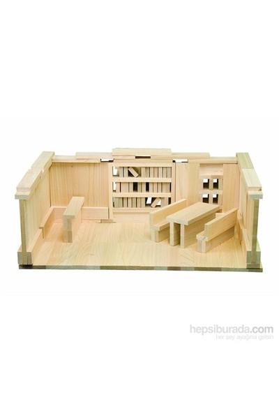 Pal Becerikli Yapılar (200 Parça Ahşap Yapı Blokları)