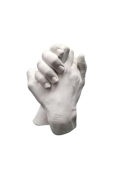 Küçük İzler Aljinat ile 3 Boyutlu Sevgiliye El İzi Heykeli Kalıp Seti