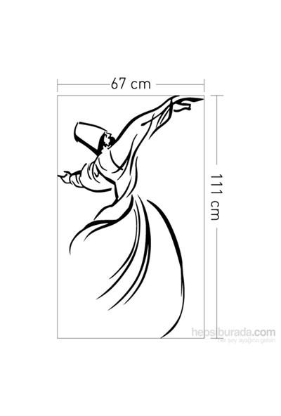 Artikel Semazen Kadife Duvar Sticker