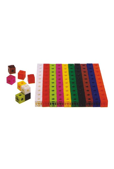 Try Geçmeli Birim Küpler (2X2x2 Cm) 100 Parça